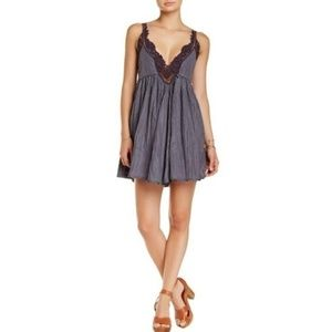 Slate Rocker Strappy Crochet Embellished Dress